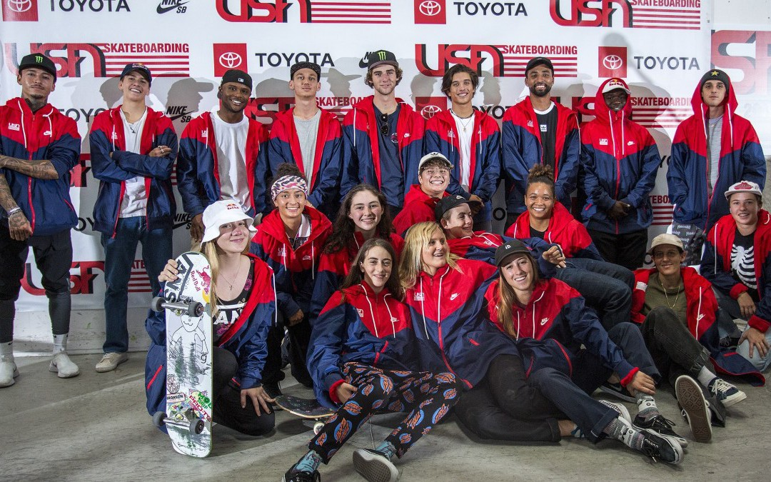 """Meet the USA Skateboarding National Team That May (Or May Not) Go To The Olympics"" by Dave Carnie in Transworld Skateboarding"