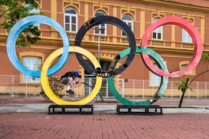 Olympic Rings Skateboarding