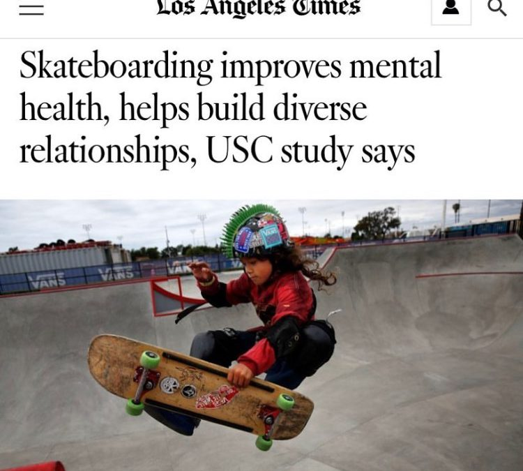 """Skateboarding improves mental health, helps build diverse relationships, USC study says"" via LA Times"