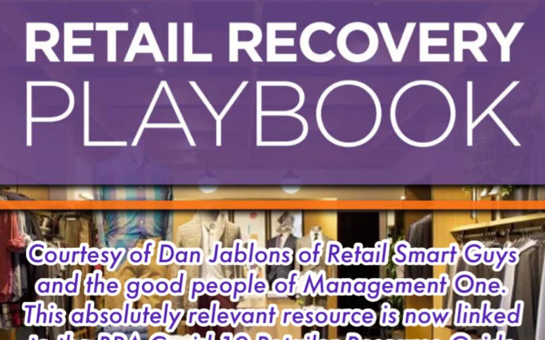 """Retail Recovery Playbook"" – Courtesy of Retail Smart Guys and Management One"