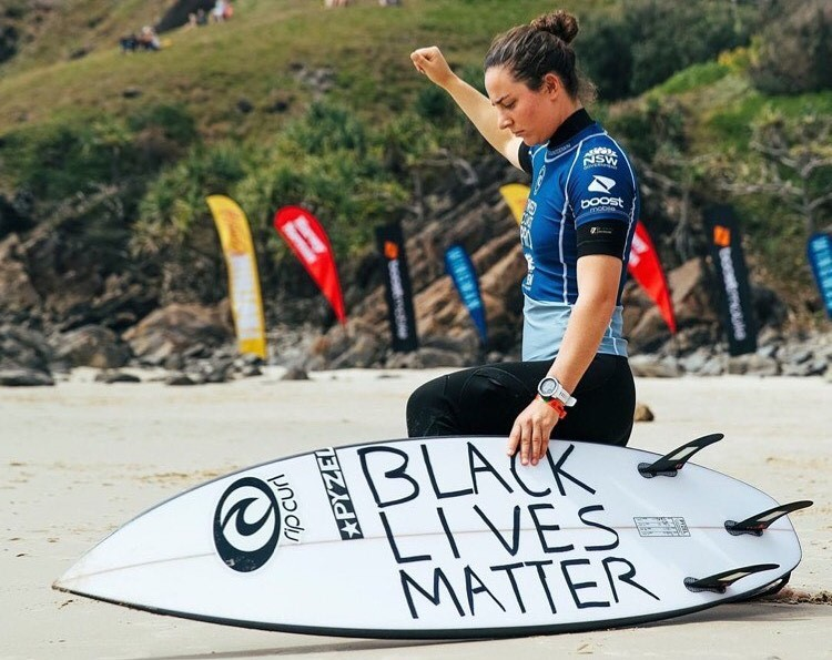 """What Does the Reaction to Tyler Wright's Stand Say About Surfers? SURF CULTURE, RACIAL JUSTICE AND SOCIAL MEDIA'S POISON PILL"" by Todd Prodanovich via Surfer Mag"