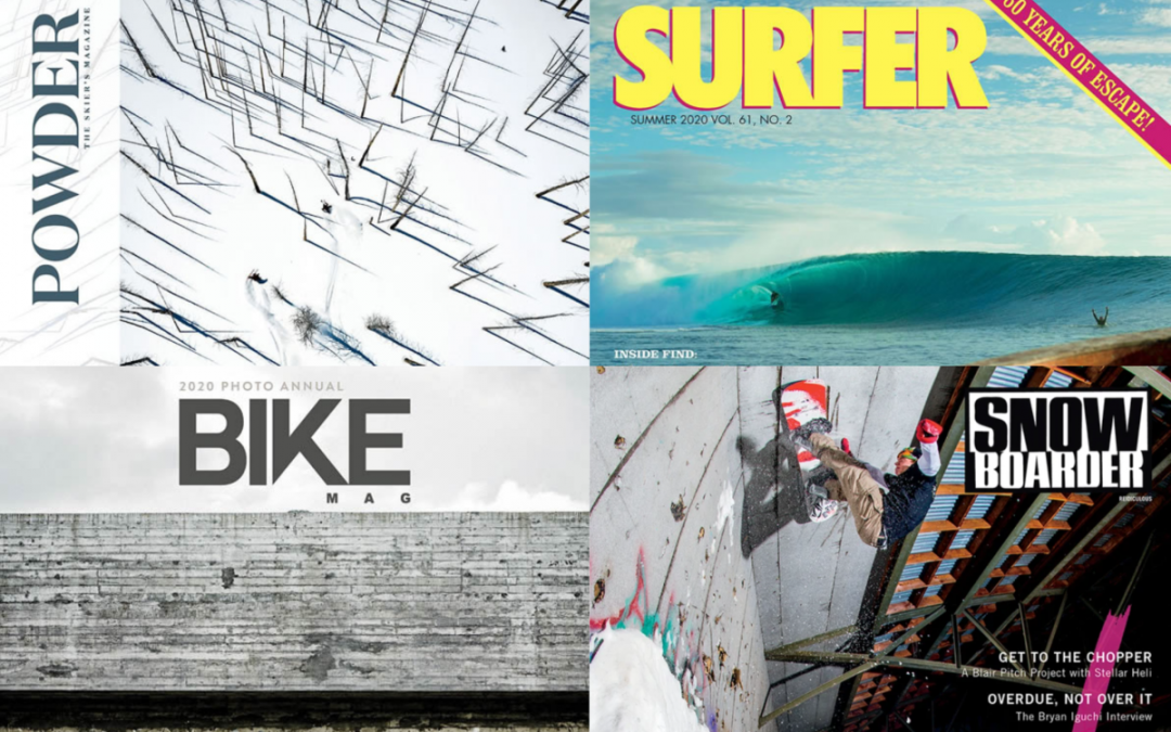 """Bike, Powder, Snowboarder, and Surfer magazines to cease publication indefinitely – The four titles will ""pause"" operations in the coming months and furlough employees without pay."" by ANDREW WEAVER via SNEWS"