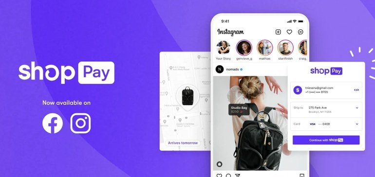 """""""Shopify adds Shop Pay to Facebook, Instagram"""" by Tatiana Walk-Morris via Retail Dive"""