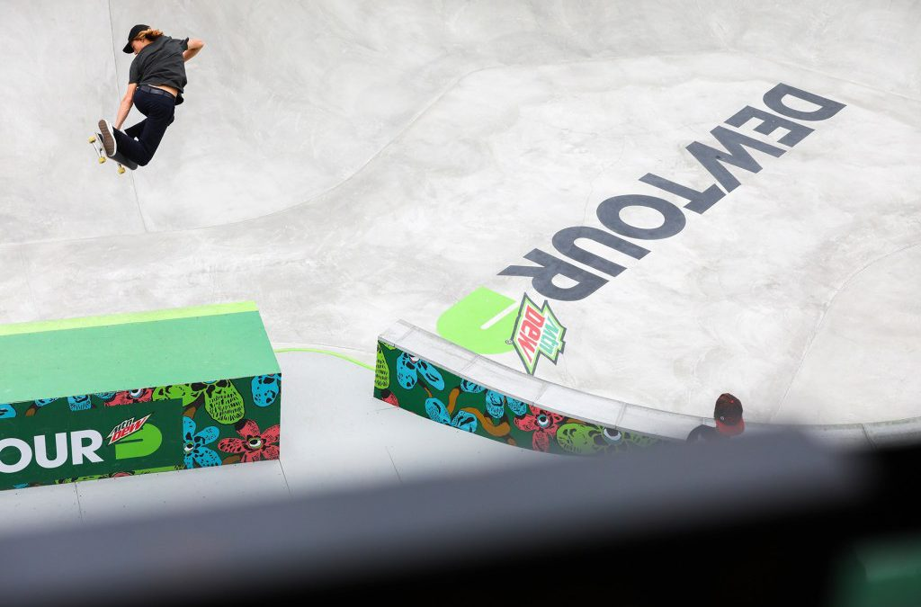 """DEW TOUR OFFICIALLY ANNOUNCES SUMMER 2021 SKATEBOARDING DATES & LOCATION IN DES MOINES, IOWA – 2021 Summer Dew Tour to be Held May 20-23 at the New Lauridsen Skatepark"" via PR link from Transworld Skateboarding"