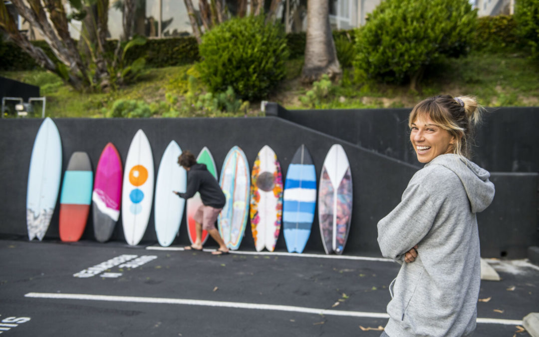 """""""The Electric Acid Surfboard Test Shaper Reveal – Meet the crafty hands behind Mason and Coco's colorful quiver"""" via Stab Magazine"""