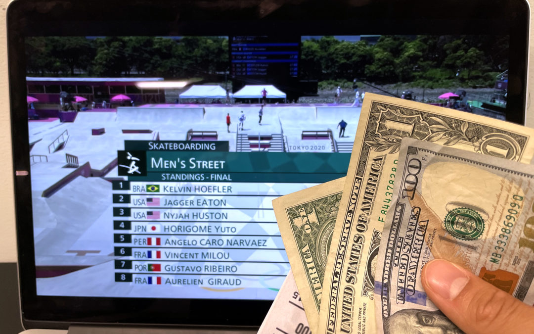 """""""WE ASKED A SPORTS GAMBLING EXPERT ABOUT BETTING ON OLYMPIC SKATEBOARDING"""" by Ian Michna via Jenkem Mag"""